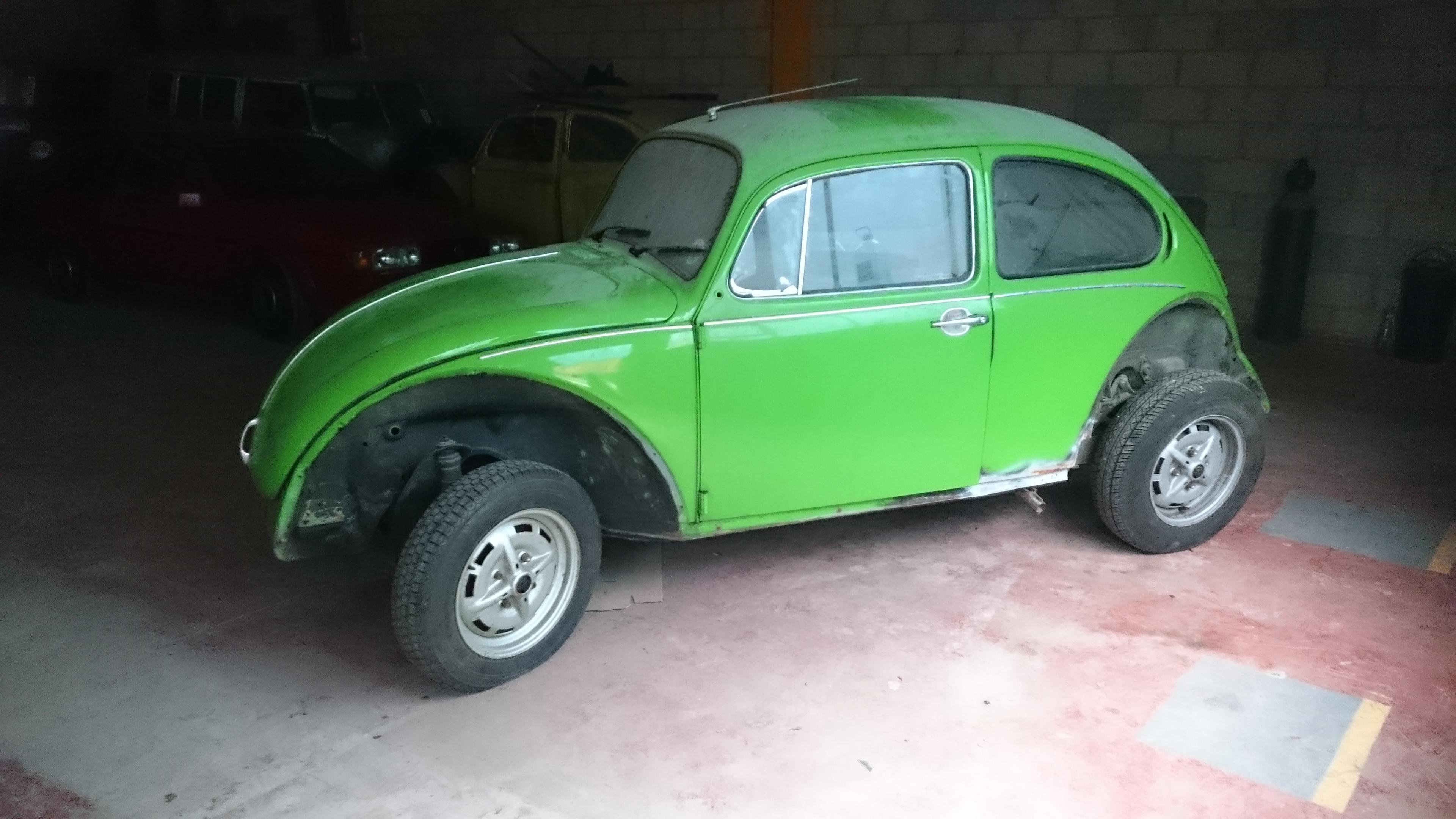 Apple green GT Beetle restoration