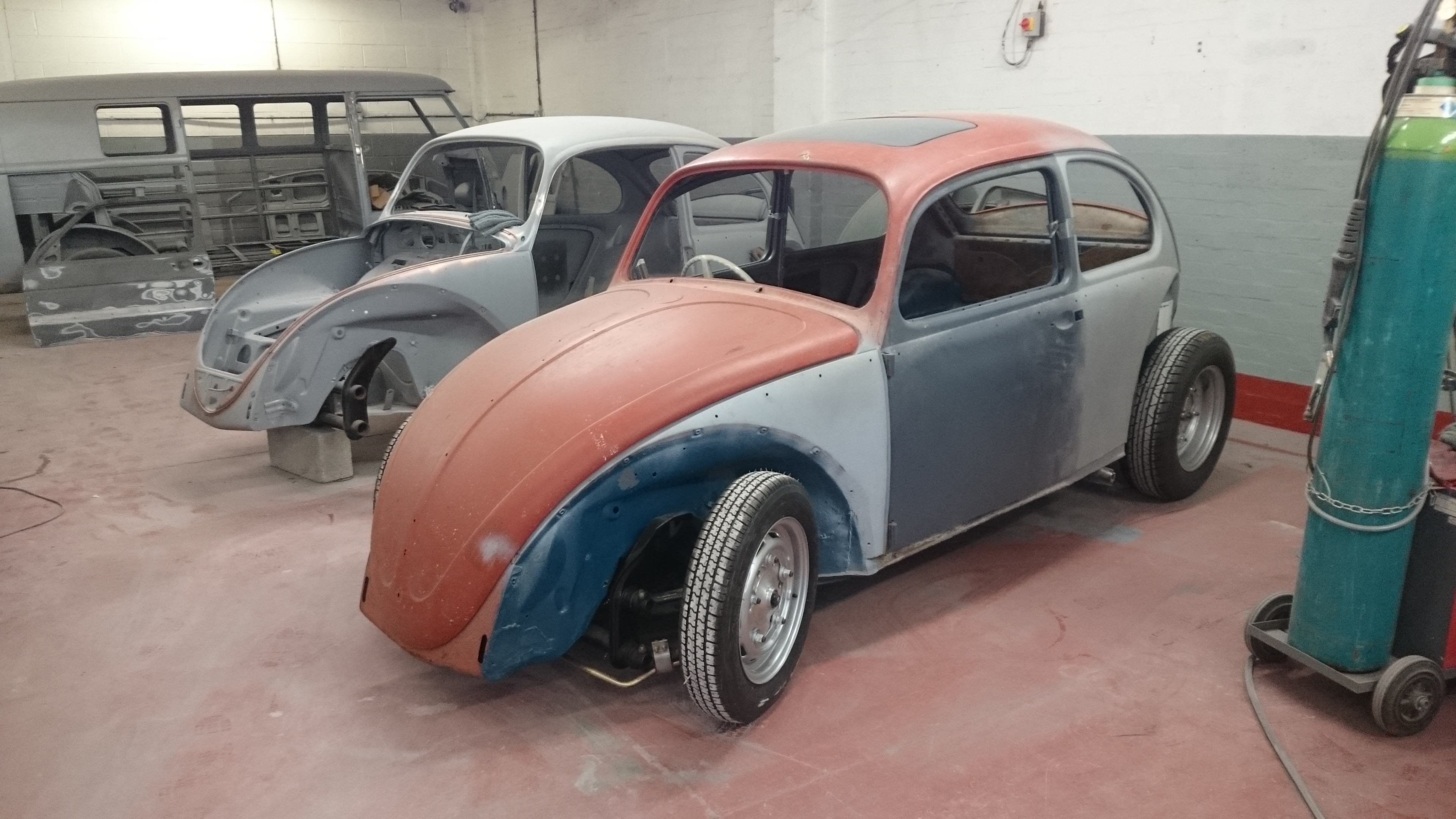 1966 sea blue sunroof Beetle full restoration
