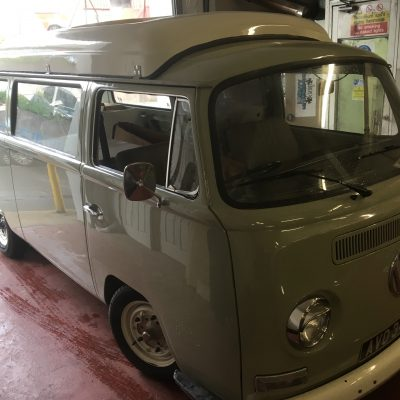 1970 RHD bay window Dormobile restoration