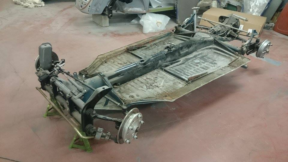 Removed body from chassis ready for blasting