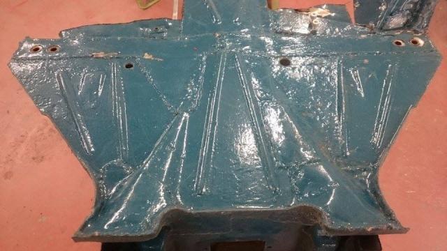 Framehead bottom plate before blasting