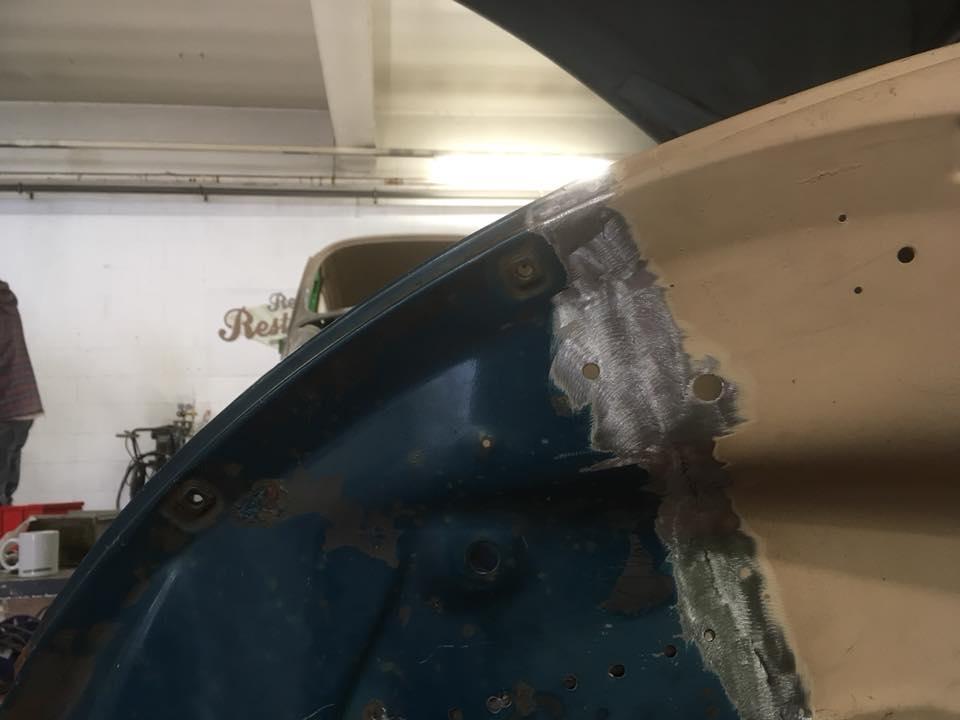 Passenger front clip welded