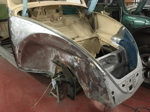 Drivers front quarter repairs finished
