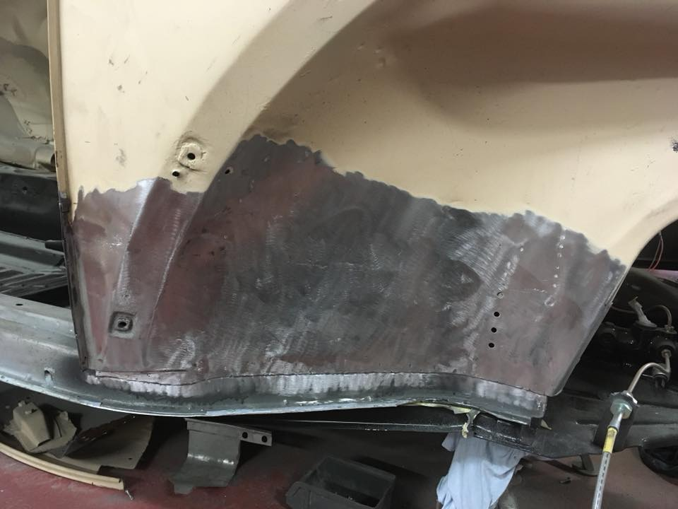 Front inner arch repaired