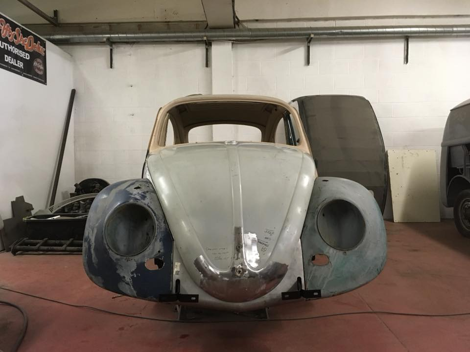 Repair nose of bonnet and trial fit